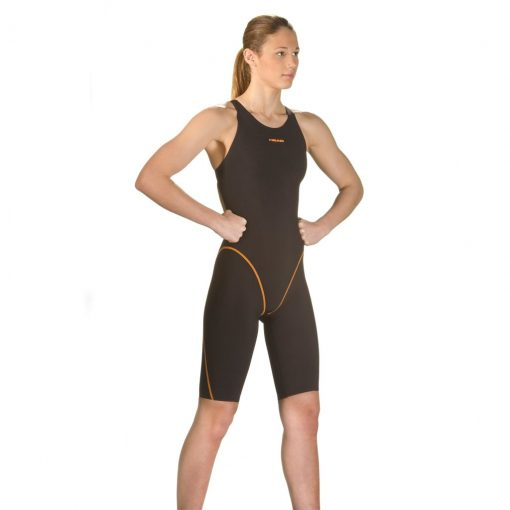 Pro Swim Wear Technical Suit in a Black & Orange Accent