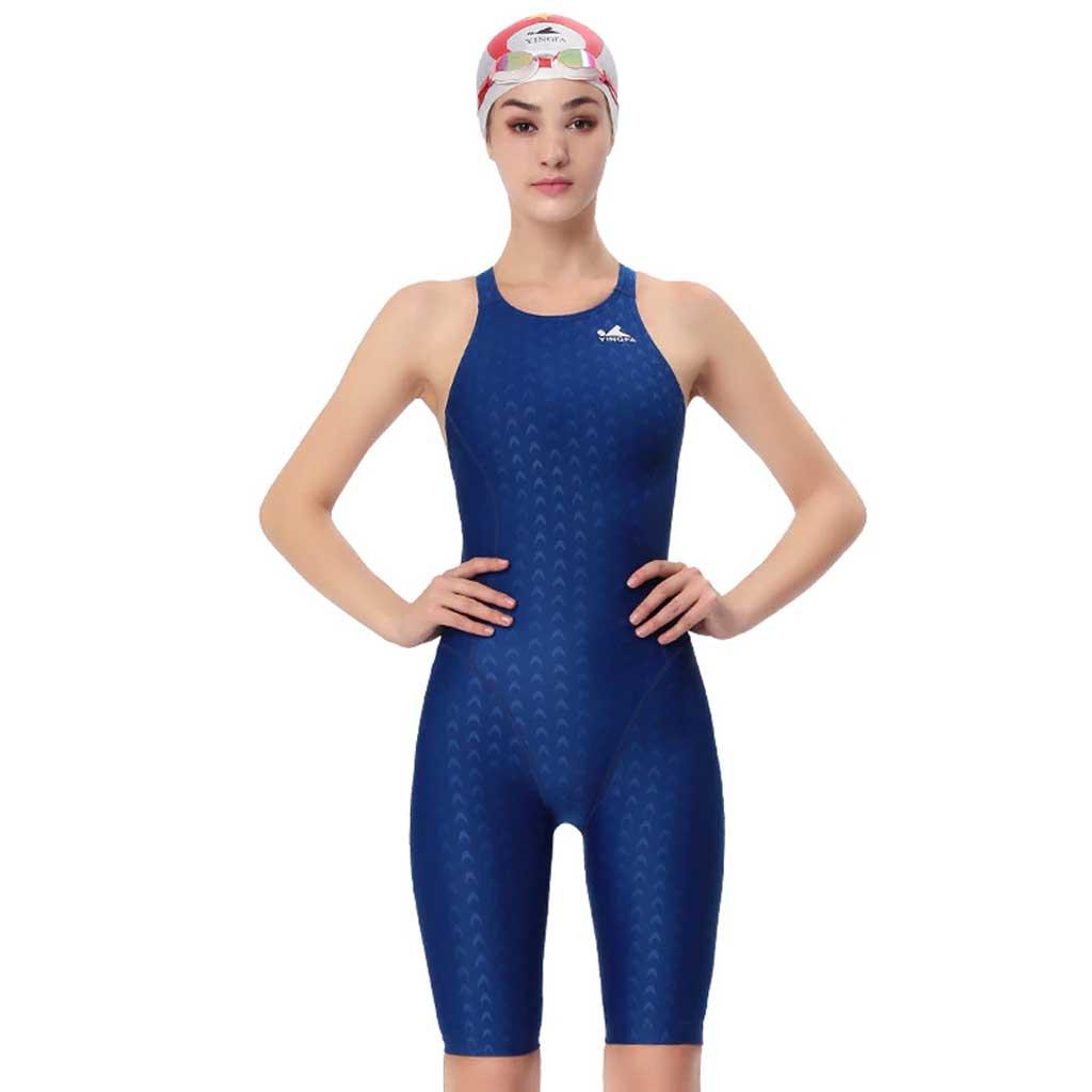 bf2b56d2180 Yingfa 925-2 Shark Scale KneeSkin Technical Swimsuit - Athletes Choice