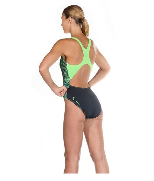HEAD Training Swim Wear in Green & Black