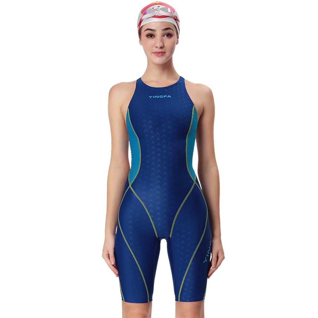 288550b46f7 Yingfa 953-3 Shark Scale Kneeskin Technical Swimsuit - Athletes Choice