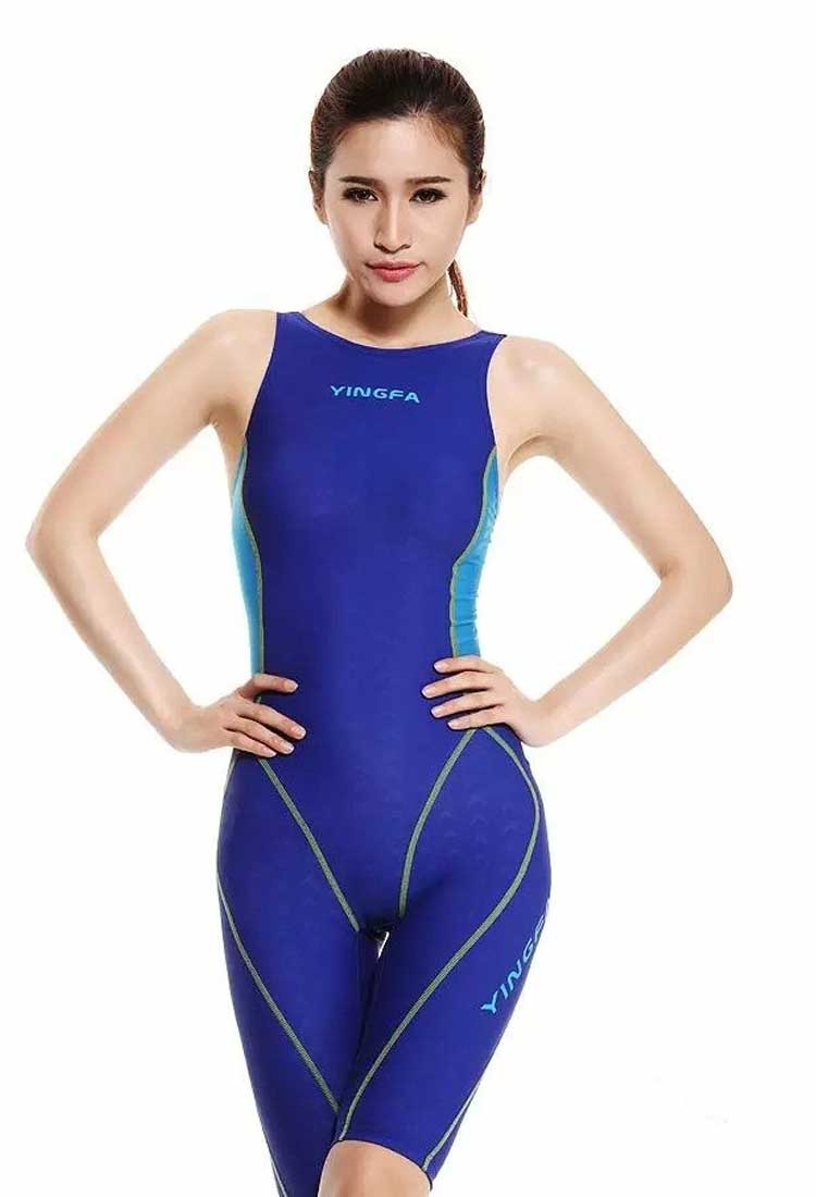 ad4f04ac5b164 Yingfa 953-3 Shark Scale Kneeskin Technical Swimsuit - Athletes Choice