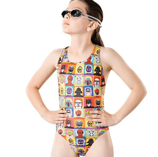 Super Hero Pacer Rave Back - GS4639 - Youth Swimsuits