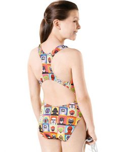 Super Hero Pacer Rave Back - GS4639 - Youth Swimsuits -Back