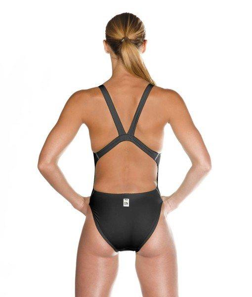 Black HEAD Liquid Power Women's racing swimsuit back view