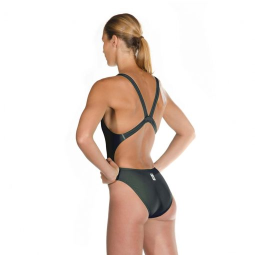 Black HEAD Liquid Power Women's racing swimsuit side back view