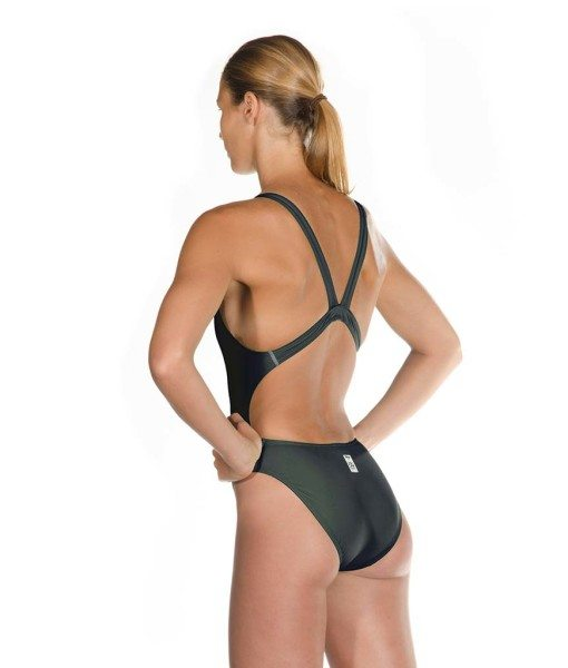 Black HEAD Liquid Power Women's racing swimsuit side back view