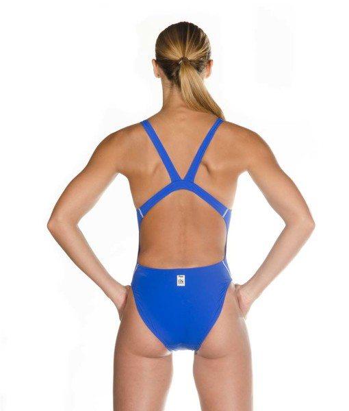 Blue HEAD Liquid Power Women's racing swimsuit back view