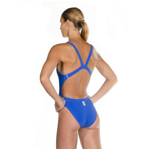 Blue HEAD Liquid Power Women's racing swimsuit side back view