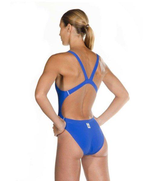 Blue HEAD Liquid Power Women's racing swimsuit side back view