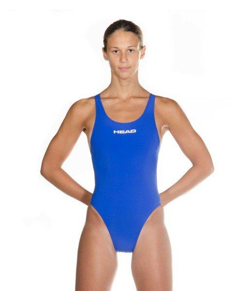 front view blue HEAD women's racing swimsuit