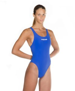 Blue HEAD Liquid Power Women's racing swimsuit side front view