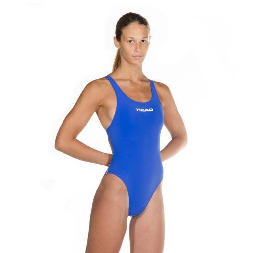Blue HEAD Liquid Power Women's racing swimsuit side front view