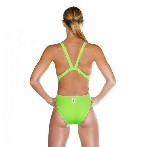 Green HEAD Liquid Power Women's racing swimsuit back view