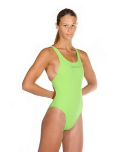 Green womens liquid power tank side front look