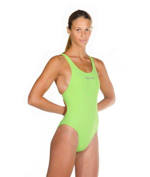 Green womens liquid power tank side front look