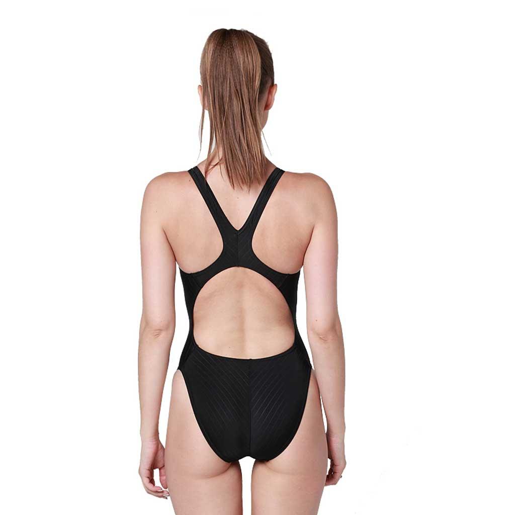 13a96c14443 Yingfa One Piece Swimsuit 922A-1 Black - Athletes Choice